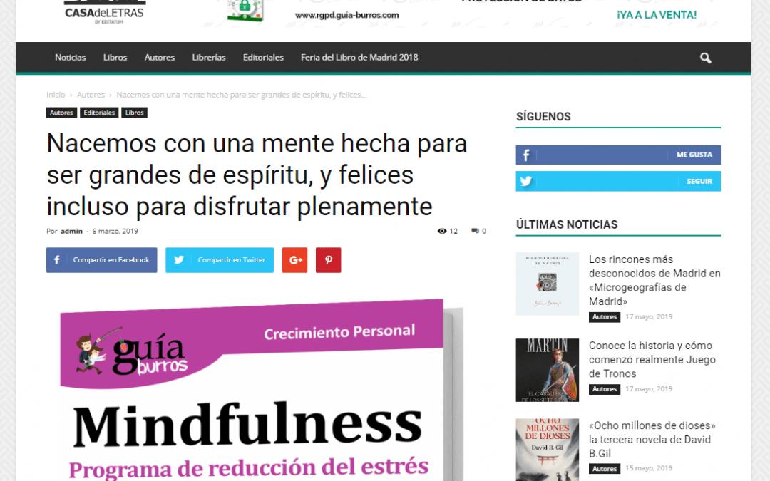 """Casa de Letras habla en primicia del """"GuíaBurros: Mindfulness"""""""