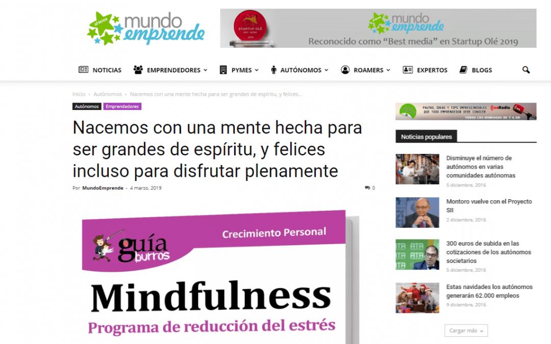 """""""GuíaBurros: Mindfulness"""" de Lola López, en el portal Mundo Emprende"""